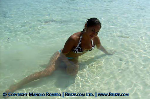 Belize beach girl
