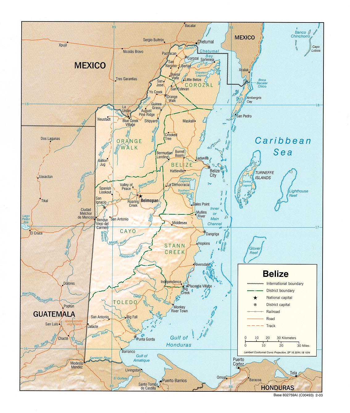belize map belize map 1134 x 1341 size