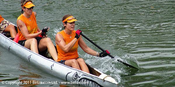 expats in ruta maya canoe race