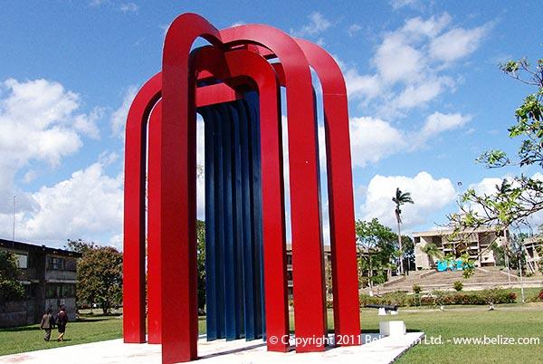 Central square, City Of Belmopan, Belize.