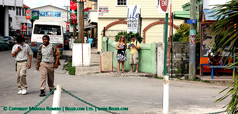 cruise ship tourists Belize City