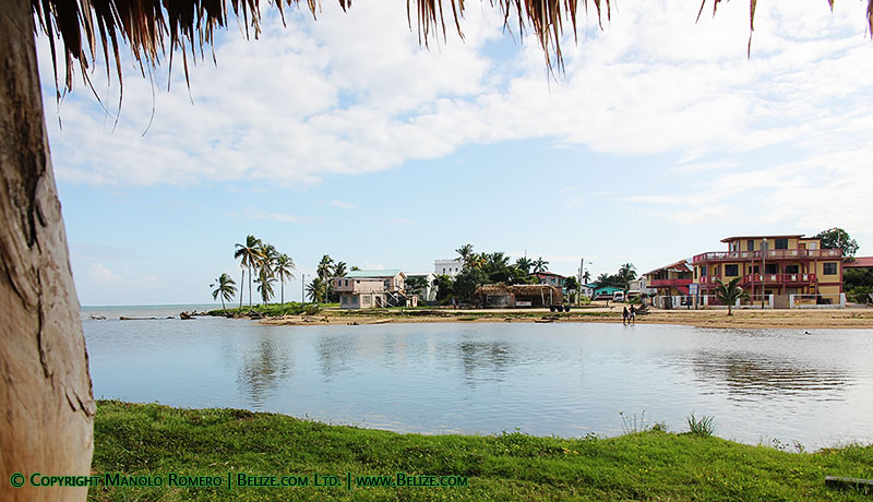 View of Dangriga over the Stann Creek