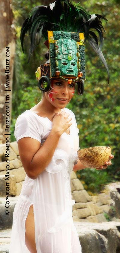 Maya ritual reenactment Toledo Cacao Fest in southern Belize