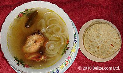 Belize cuisine escabeche
