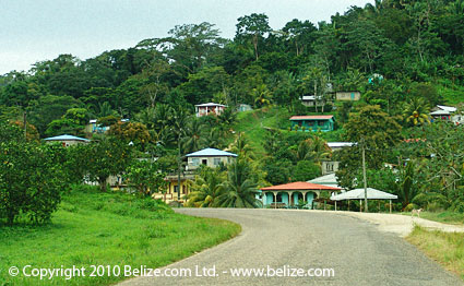belize countryside and hills