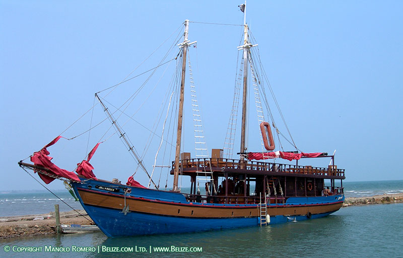 Jolly Roger Pirate Ship Belize