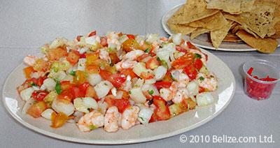 belize conch and shrimp ceviche