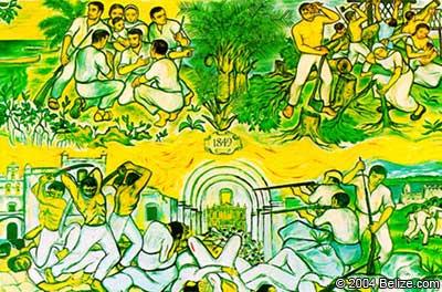caste war yucatan wall mural belize