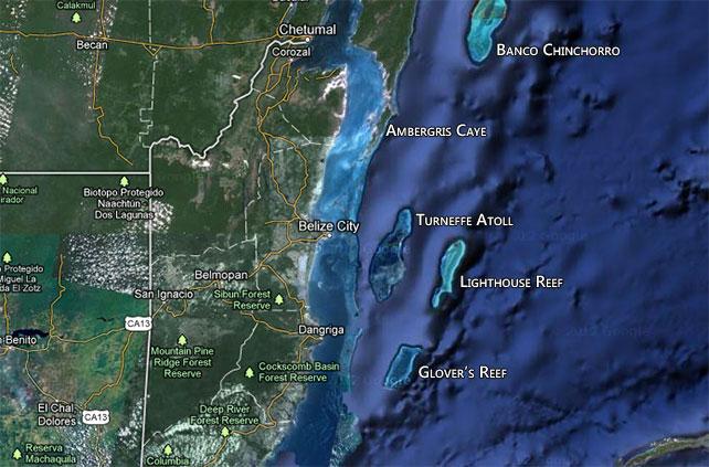turneffe-atoll map
