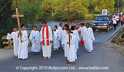 belize easter procession