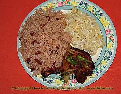 belize rice and beans dish