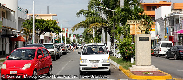 downtown chetumal city, mexico