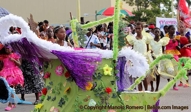 carnival-float-and-dancer-belize-city