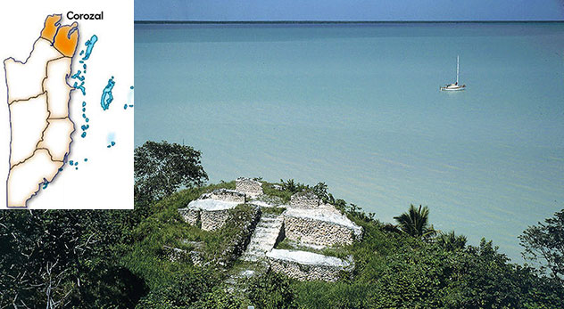 corozal-bay-view-from-cerros-maya-site-with-map