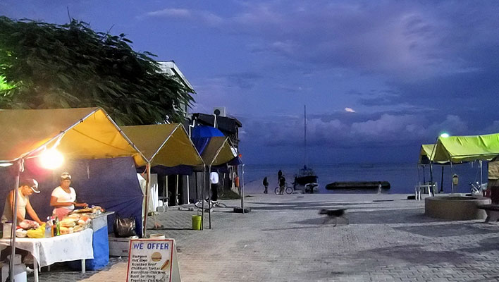 Ambergris Caye night market.