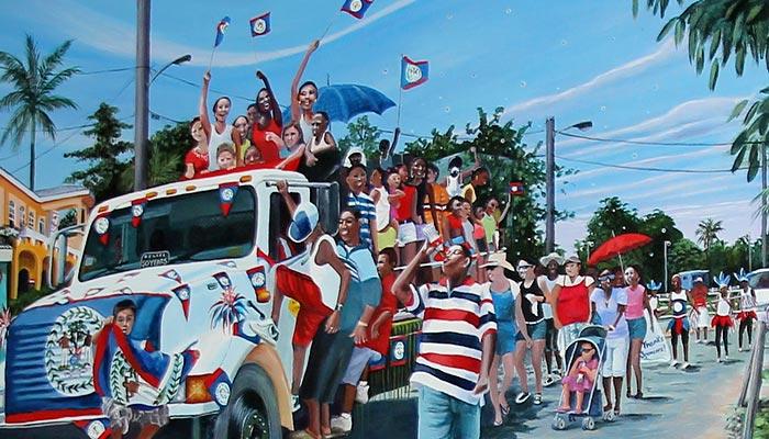 belizean-painting-national-celebrations-parade